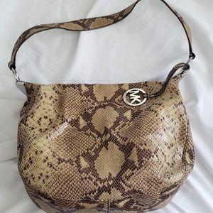 Michael Kors Snakeskin Design Leather Bag